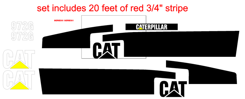 Caterpillar 972G II Decal Set