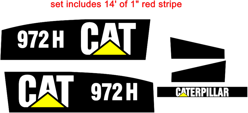 Caterpillar 972H Decal Set