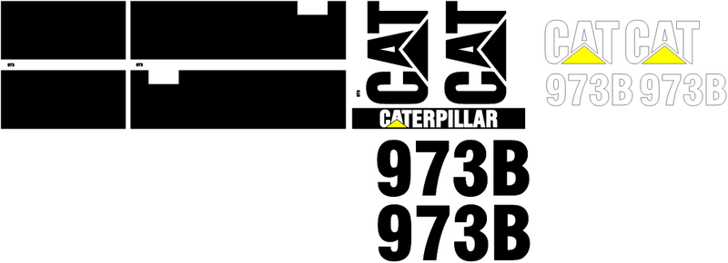Caterpillar 973B Decal Set