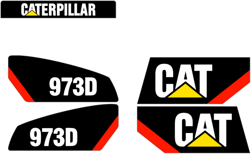 Caterpillar 973D Decal Set