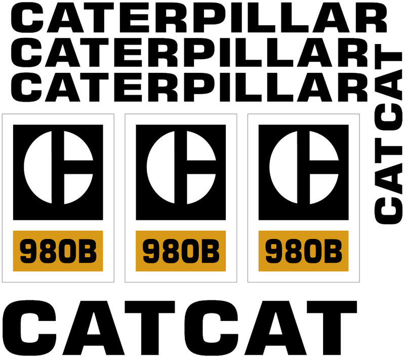 Caterpillar 980B Decal Set