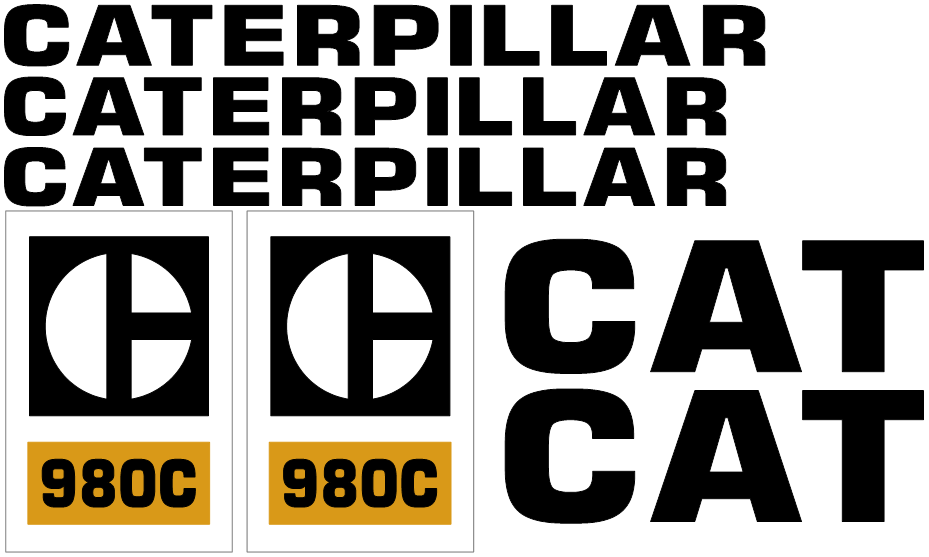 Caterpillar 980C Decal Set