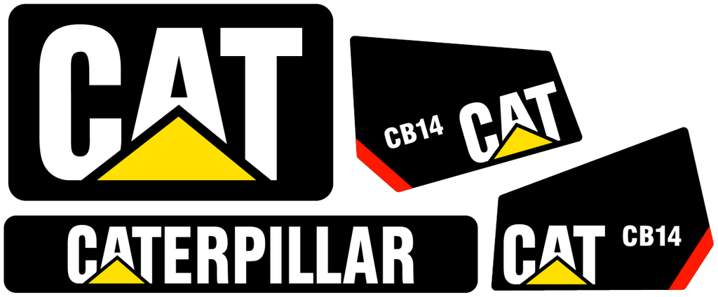 Caterpillar CB14 Decal Set