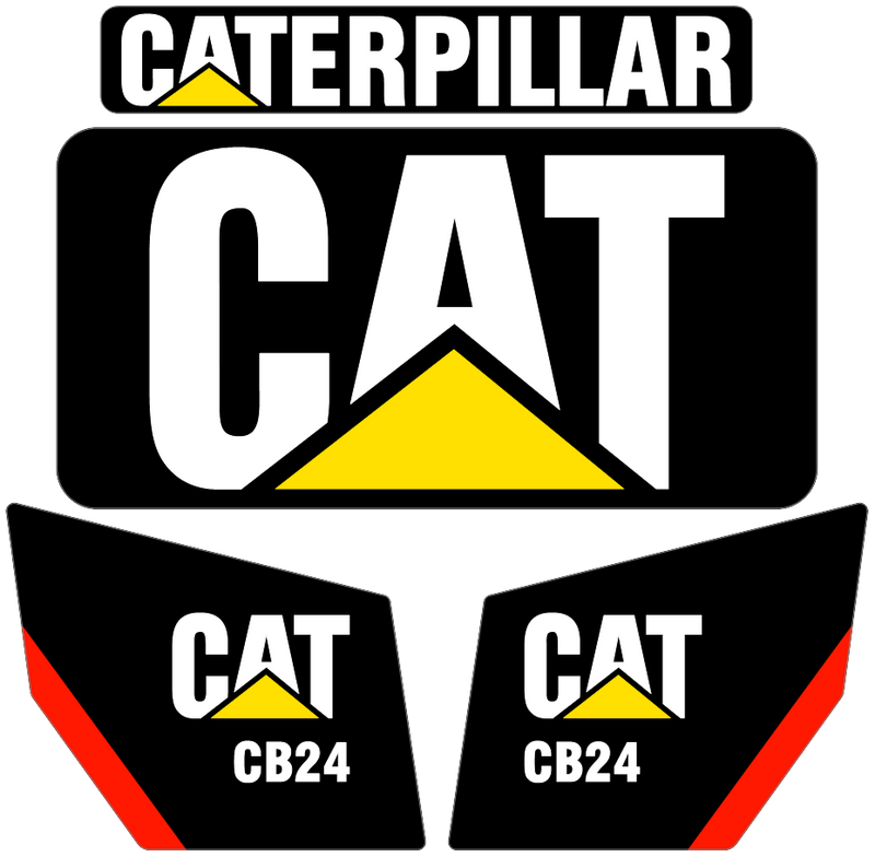 Caterpillar CB24 Decal Set