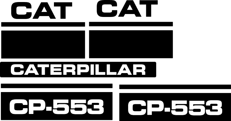 Caterpillar CP-553 Decal Set