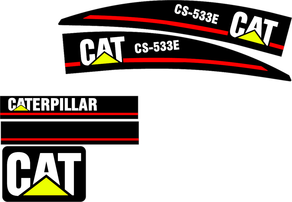 Caterpillar CS-533E Decal Set