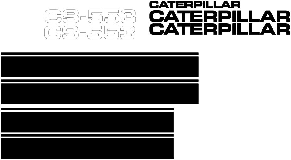 Caterpillar CS-553 Decal Set