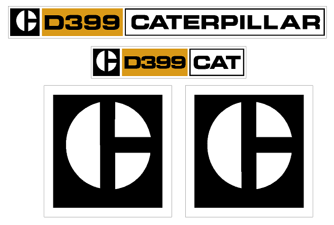 Caterpillar D399 Decal Set