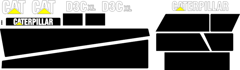Caterpillar D3C XL III Decal Set