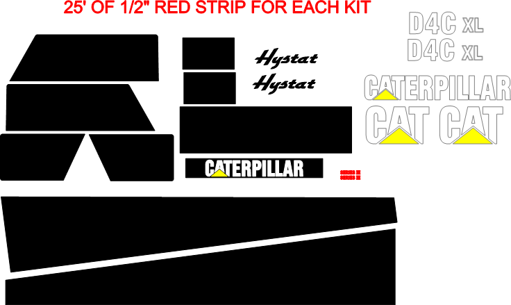 Caterpillar D4C XL III Decal Set