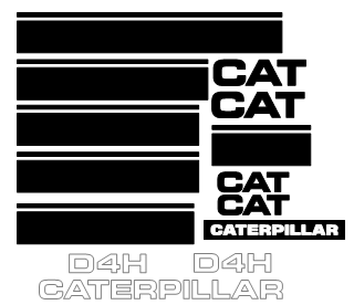 Caterpillar D4H Decal Set