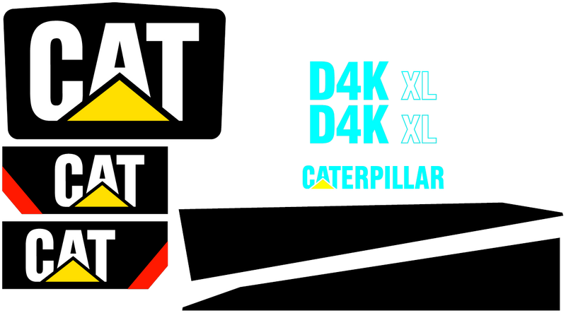 Caterpillar D4K XL Decal Set