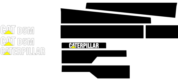 Caterpillar D5M Decal Set