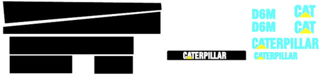 Caterpillar D6M Decal Set