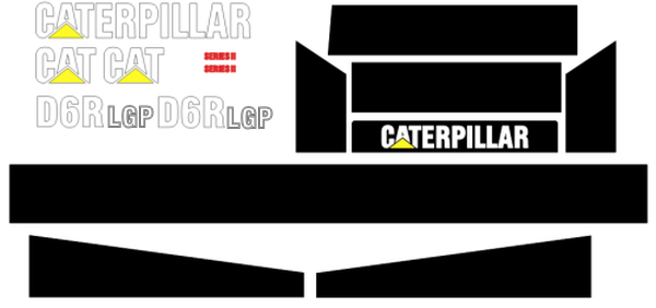 Caterpillar D6R LGP II Decal Set