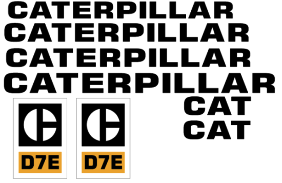 Caterpillar D7E Old Style Decal Set
