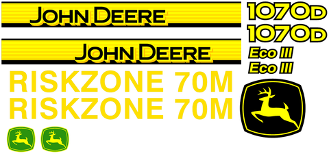 Deere 1070D  Decal Set