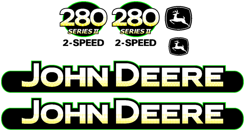 Deere 280 II Decal Set