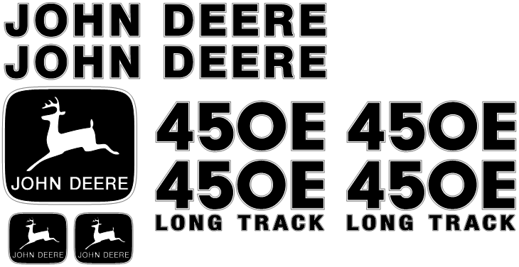 Deere 450E LT Decal Set