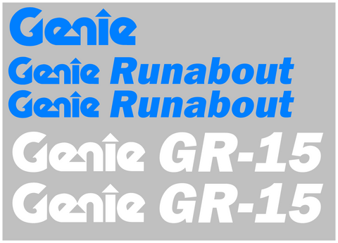 Genie GR15 Decal Set