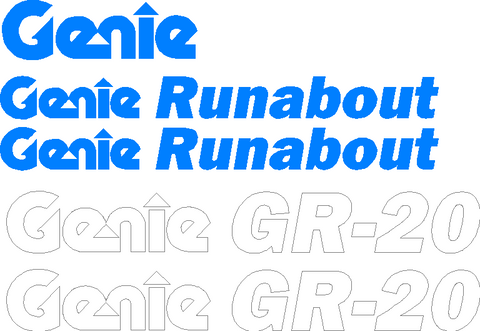 Genie GR20 Decal Set