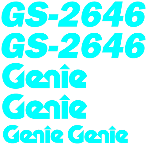 Genie GS2646 Decal Set