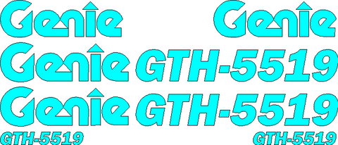 Genie GTH5519 Decal Set