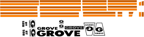 Grove RT58B Decal Set