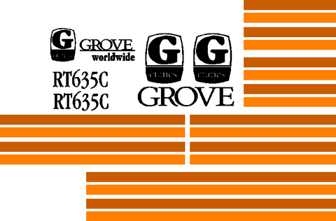 Grove RT635C Decal Set