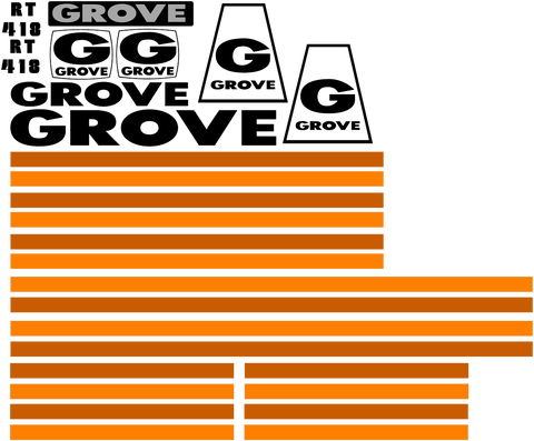Grove RT418 Decal Set