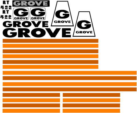 Grove RT422 Decal Set