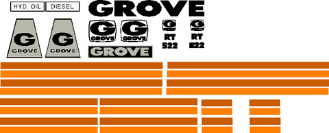 Grove RT522 Decal Set