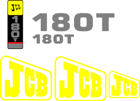 JCB 180T Decal Set