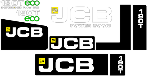 JCB 190T Decal Set
