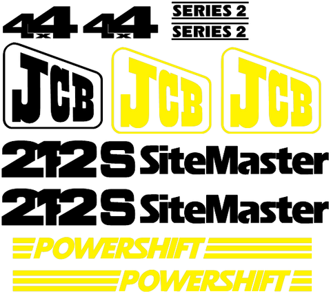 JCB 212S II Decal Set