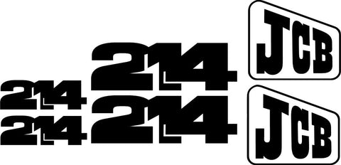 JCB 214 II Decal Set