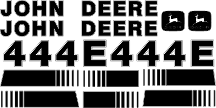 Deere 444E Decal Set