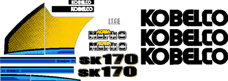 Copy of Kobelco SK170 LC-9 Decal Set