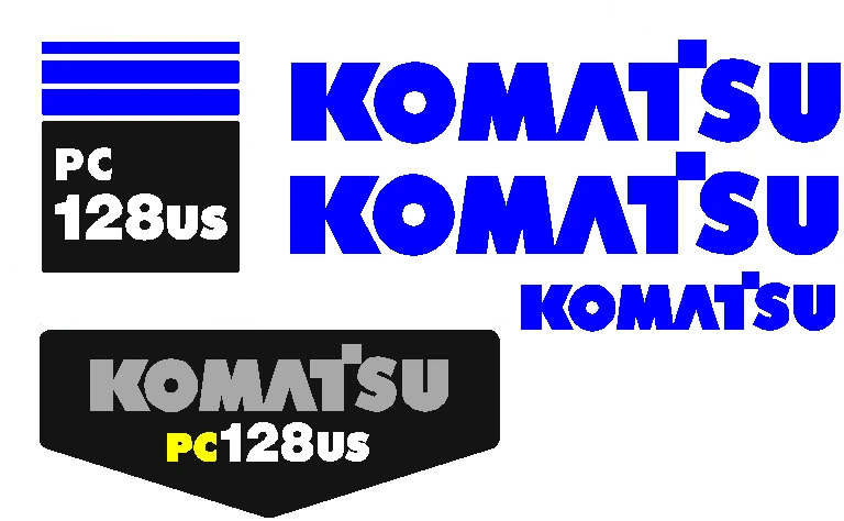 Komatsu PC128US-2 Decal Set
