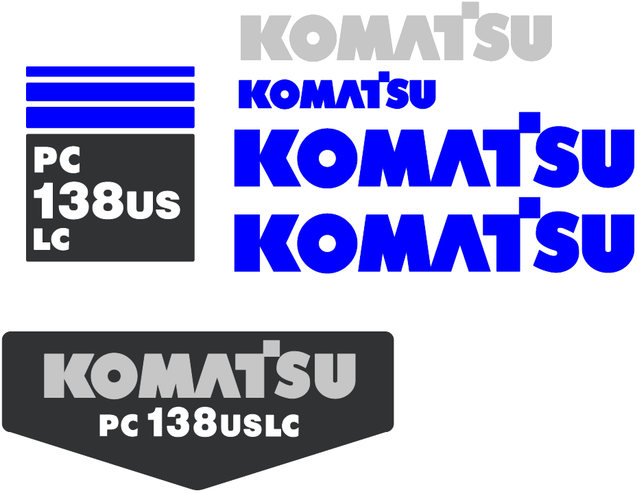 Komatsu PC138US LC-2 Decal Set