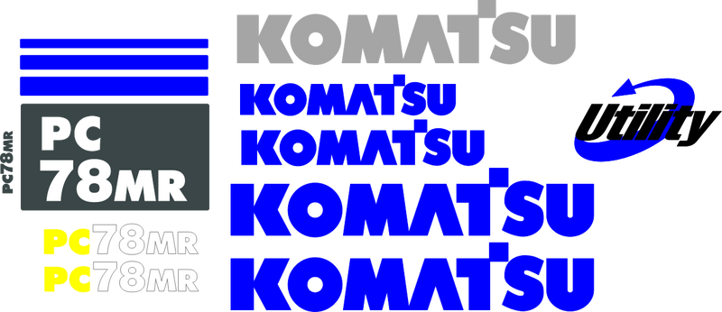 Komatsu PC78MR-6 Decal Set