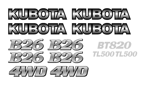 Kubota B26 Decal Set
