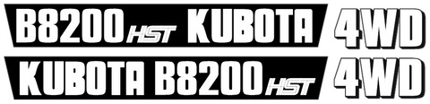 Kubota B8200 Decal Set