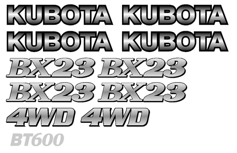Kubota BX23 Decal Set