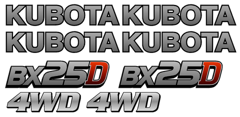 Kubota BX25D Decal Set