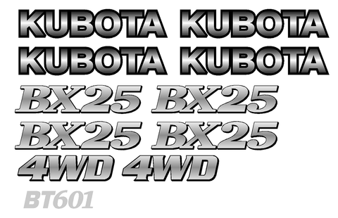 Kubota BX25 Decal Set