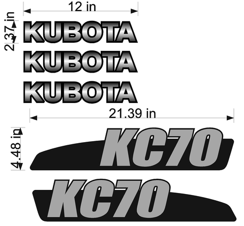 Kubota KC70 Decal Set