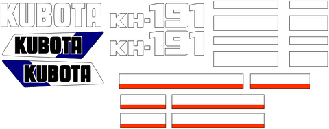 Kubota KH191 Decal Set
