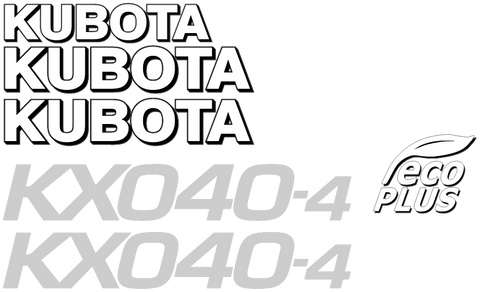 Kubota KX040 4 Decal Set