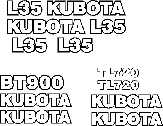 Kubota L35 Decal Set